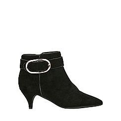 Evans - Wide fit black kitten heel boots