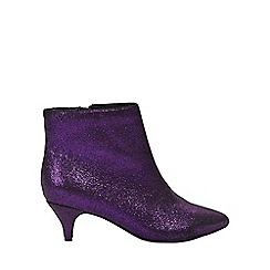 Evans - Berry sparkle kitten heel ankle boots