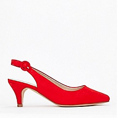 Evans - Extra Wide Fit Red Slingback Court Shoes