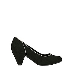 Evans - Extra wide fit high heel court Shoes