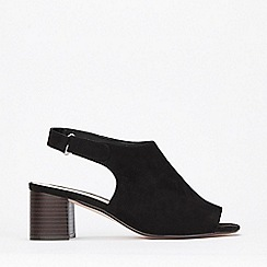 Evans - Extra Wide Fit Black Block Heel Sandals