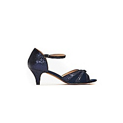 Evans - Extra wide fit navy two part heeled sandals