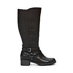 Evans - Extra wide fit black knee high boots