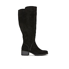 Evans - Extra Wide Fit Black Over The Knee Boots