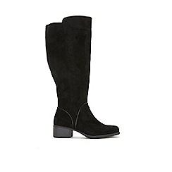 Evans - Wide Fit Black Over The Knee Boots