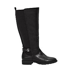 Evans - Extra wide fit black elastic back boots
