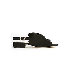 ea2f8dc6776 Evans - Extra wide fit black suedette sling back mule sandals