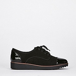 Evans - Extra wide fit black lace up brogues