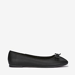 Evans - Wide fit black bow ballerina