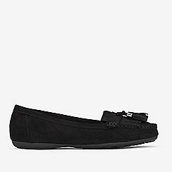 Evans - Extra Wide Fit Black Comfort Tassel Loafers