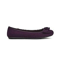 Evans - Bow knot detail ballet shoes