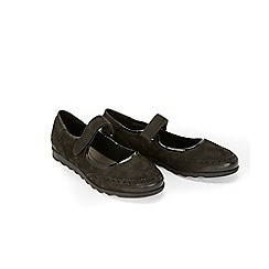 Evans - Extra Wide Fit Black mary jane leather comfort shoes