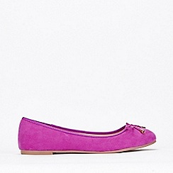 Evans - Extra Wide Fit Pink Bow Ballerina Pumps