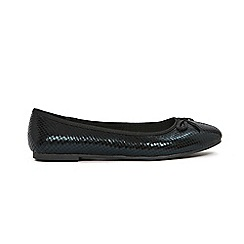 Evans - Faux snake ballet shoes