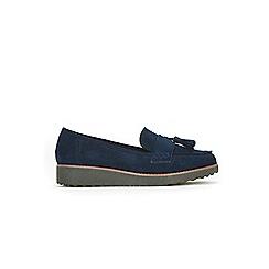 Evans - Navy tassel loafers