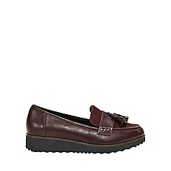 Evans - Extra wide fit red tassel loafers