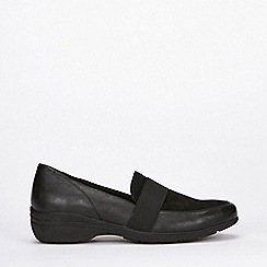Evans - Wide fit black comfort wedges