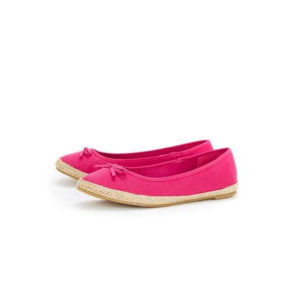 Ballet Espadrille Pink Wide Bow Evans Fit Pumps CqwR0WHp