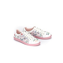 Evans - Extra Wide Fit Multi coloured 3d flower trim trainers
