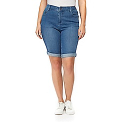 Evans - Midwash denim shorts