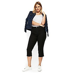 Evans - Black denim cropped jeans