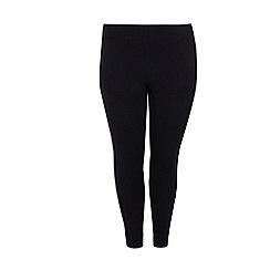 Evans - Black ponte leggings