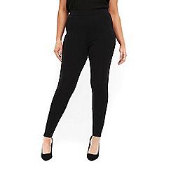Evans - 2 pack black and navy leggings