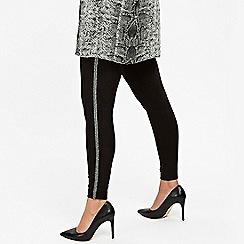 Evans - Silver sequin leggings