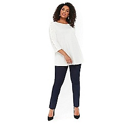 Evans - Curve fit indigo jeggings