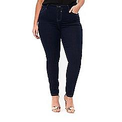 Evans - Indigo pintuck skinny jeans