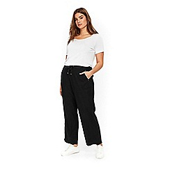 Evans - Black linen trousers