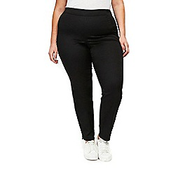 Evans - Black side zip trousers