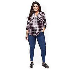 Evans - Mid wash pear fit skinny jeans