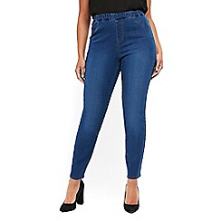 Evans - Mid wash pear fit jeggings