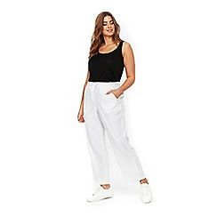 Evans - White linen trousers