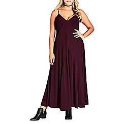 Evans - City chic paneled maxi dress