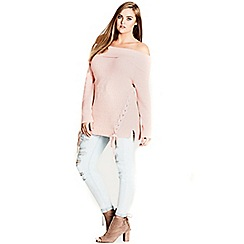 Evans - City chic pink intertwine jumper