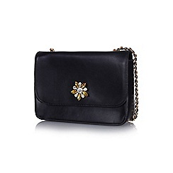Yumi - Black jewelled flower handbag