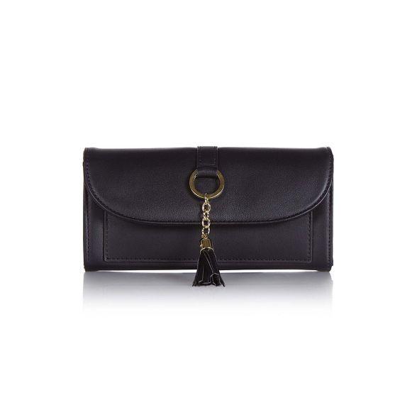 wrist faux strap leather Yumi Black purse nvZwxfngCq