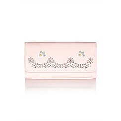 Yumi - Pink embroidered flower purse