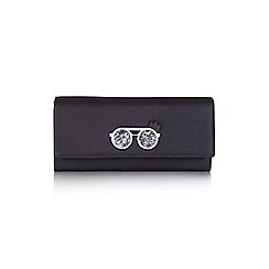 Yumi - Black faux leather wrist strap purse