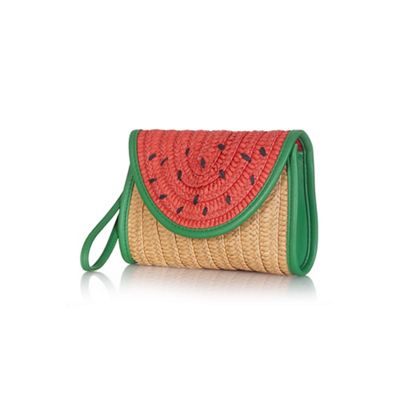 Debenhams Watermelon clutch