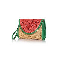 Yumi - Tan buttoned small watermelon bag