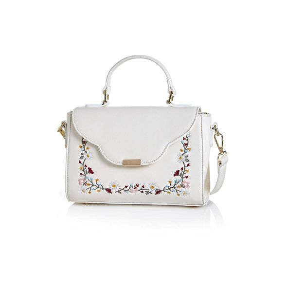 ladies handbag Yumi Cream ladies Cream embroidered handbag Yumi Yumi Cream embroidered 8B1qSAw8P
