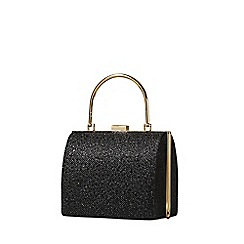 Yumi - Black metallic clutch bag