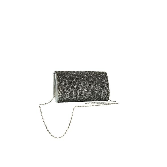 Yumi embellished Grey clutch bag bead rz7wqr
