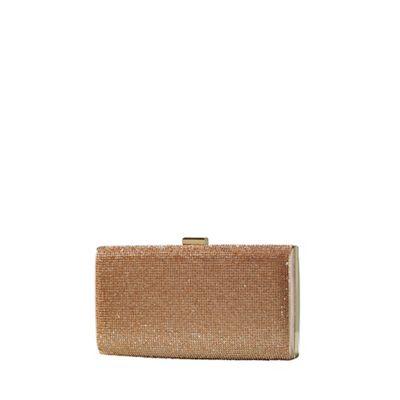Yumi   Gold Jewelled Clutch Bag by Yumi