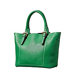 Yumi - Green detachable strap bucket handbag