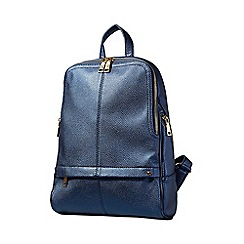 Yumi - Navy iridescent metallic backpack