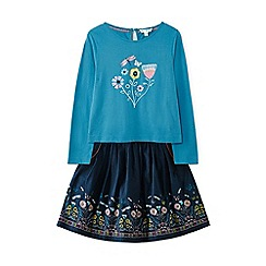 Yumi Girl - Blue floraltop and skirt set